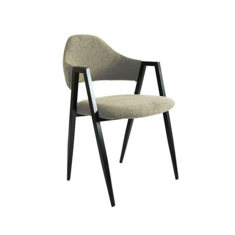 """Πολυθρόνα """"DELTA"""" μεταλλική-υφασμάτινη σε χρώμα μπεζ 50x55x80"""