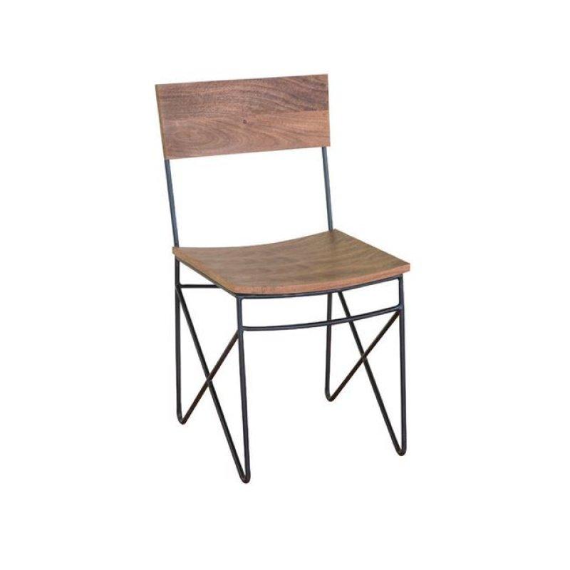 """Καρέκλα """"NAGAR"""" ξύλινη ακακία σε φυσικό χρώμα 44x40x83"""