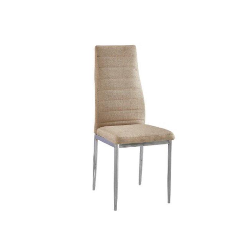 """Καρέκλα """"JETTA"""" χρωμίου-υφασμάτινη χρώματος μπεζ 40x50x95"""