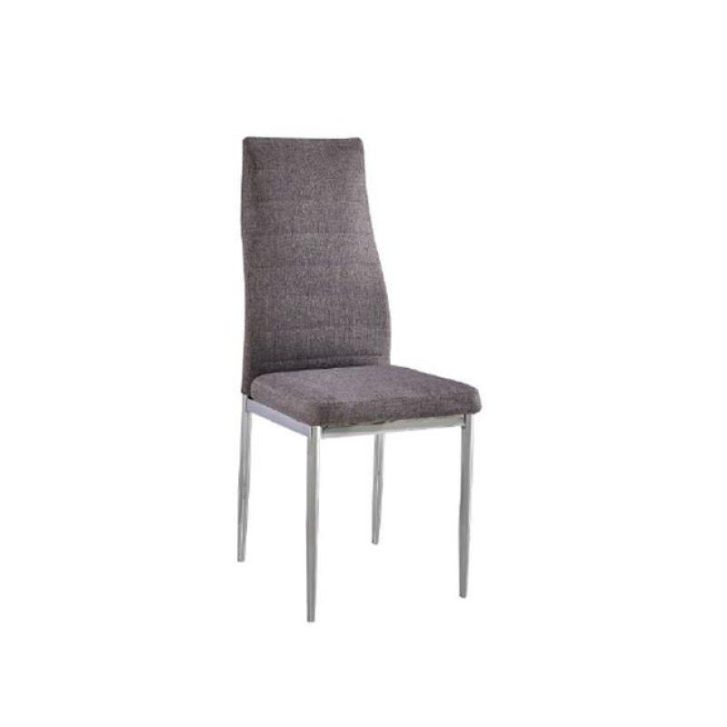 """Καρέκλα """"JETTA"""" χρωμίου-υφασμάτινη χρώματος γκρι 40x50x95"""