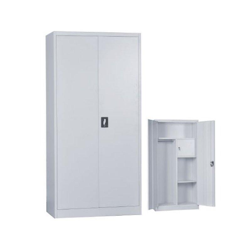 """Ντουλάπα """"LOCKER"""" μεταλλική με εσωτερικό ντουλάπι, σε γκρι χρώμα 90x45x185"""