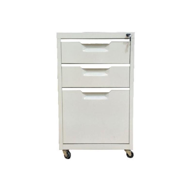 Συρταριέρα μεταλλική σε χρώμα λευκό 40x50x67