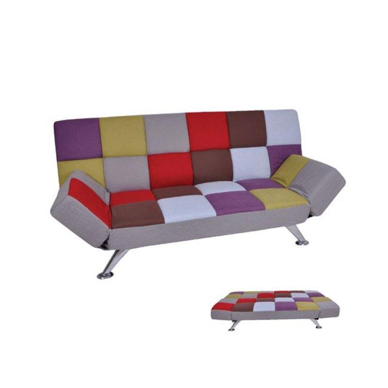 """Καναπές-κρεβάτι """"MITO-I"""" διθέσιος από ύφασμα patchwork 185x82x85"""
