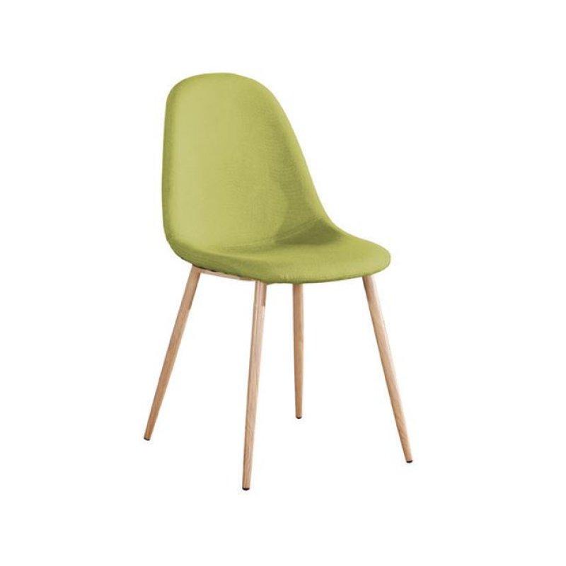 """Καρέκλα """"CELINA """" μεταλλική-υφασμάτινη σε χρώμα πράσινο 45x54x85"""
