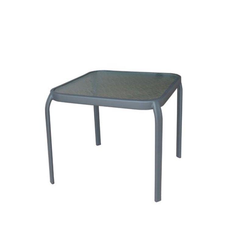 """Βοηθητικό τραπέζι """"AMBER"""" μεταλλικό σε χρώμα ανθρακί 50x50x46"""