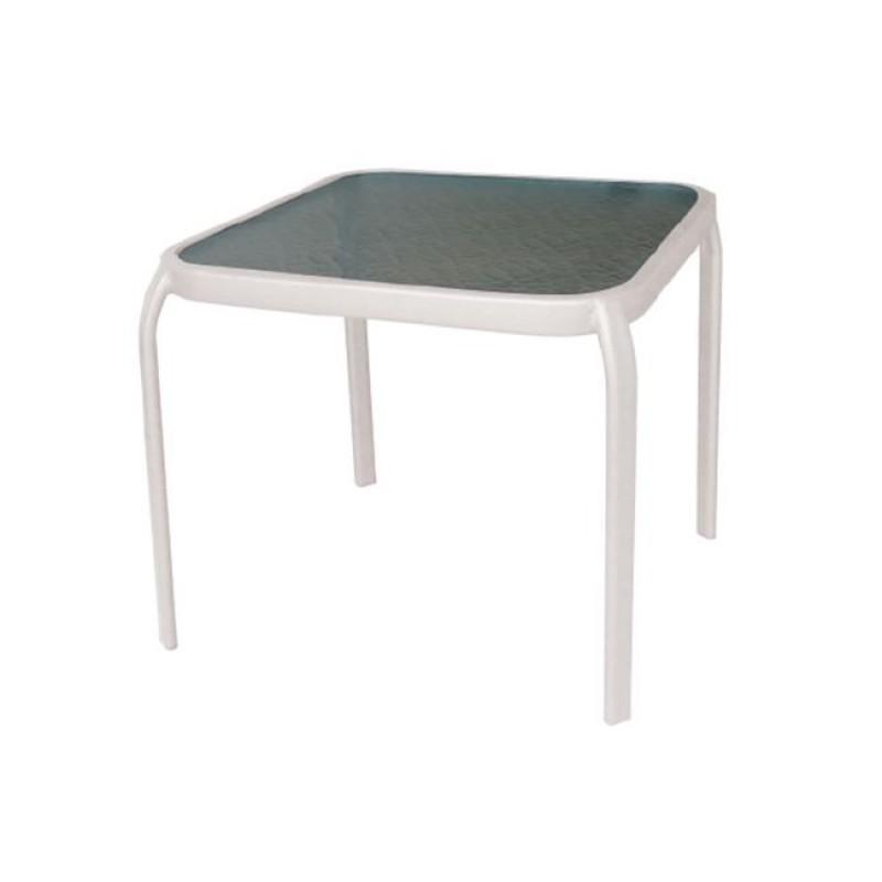 """Βοηθητικό τραπέζι """"AMBER"""" μεταλλικό σε χρώμα λευκό 50x50x46"""