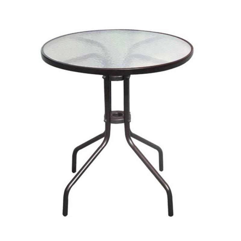 """Τραπέζι """"BALENO"""" μεταλλικό σε χρώμα καφέ 60x70"""