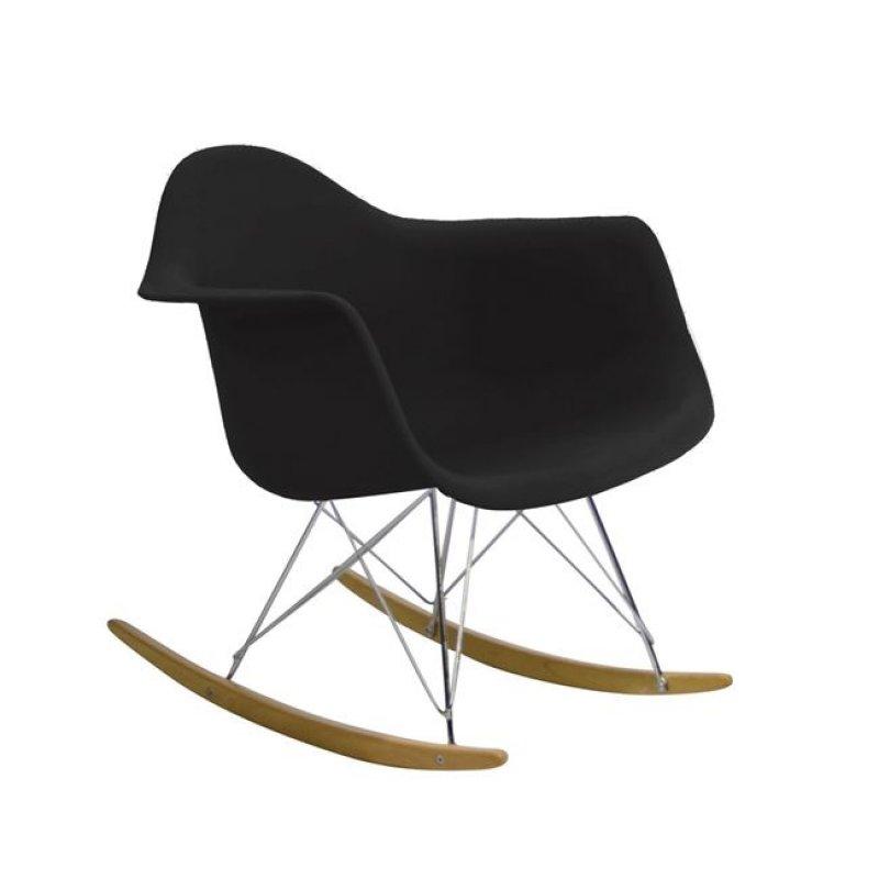 """Πολυθρόνα """"ALEA Rocky"""" από πολυπροπυλένιο χρώματος μαύρο 64x69x70"""