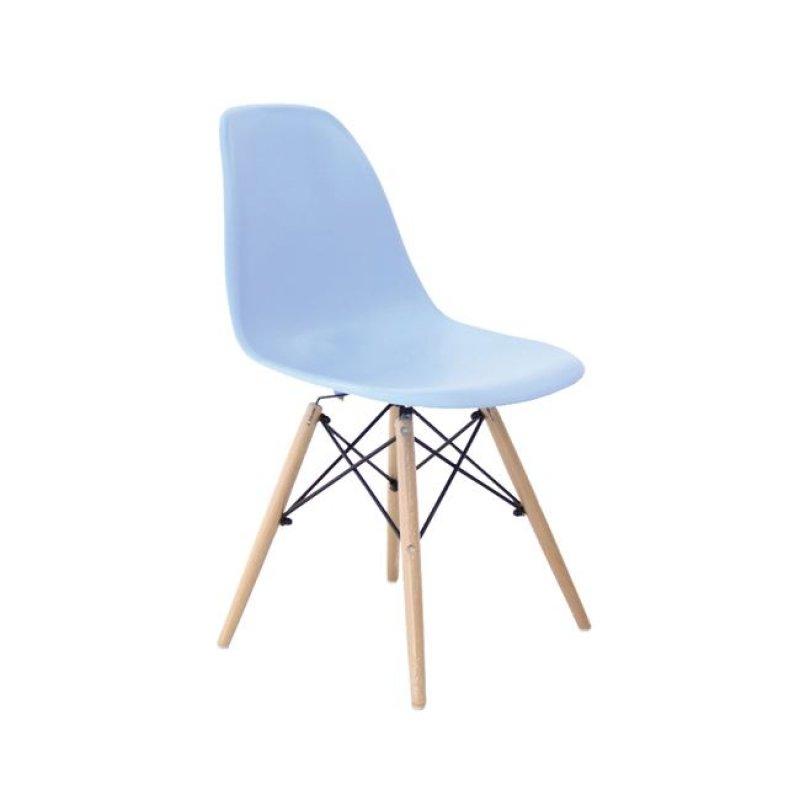 """Καρέκλα """"ART Wood"""" ξύλινη-pp χρώματος σιελ 46x53x81"""