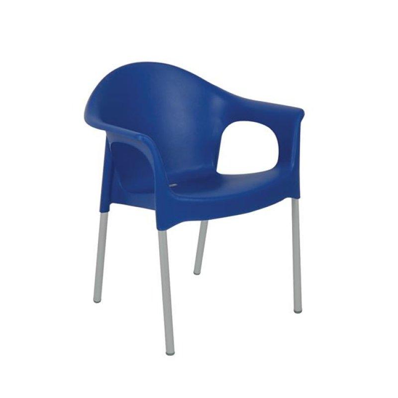 """Πολυθρόνα """"MARY"""" από πολυπροπυλένιο σε μπλε χρώμα 59x50x76"""