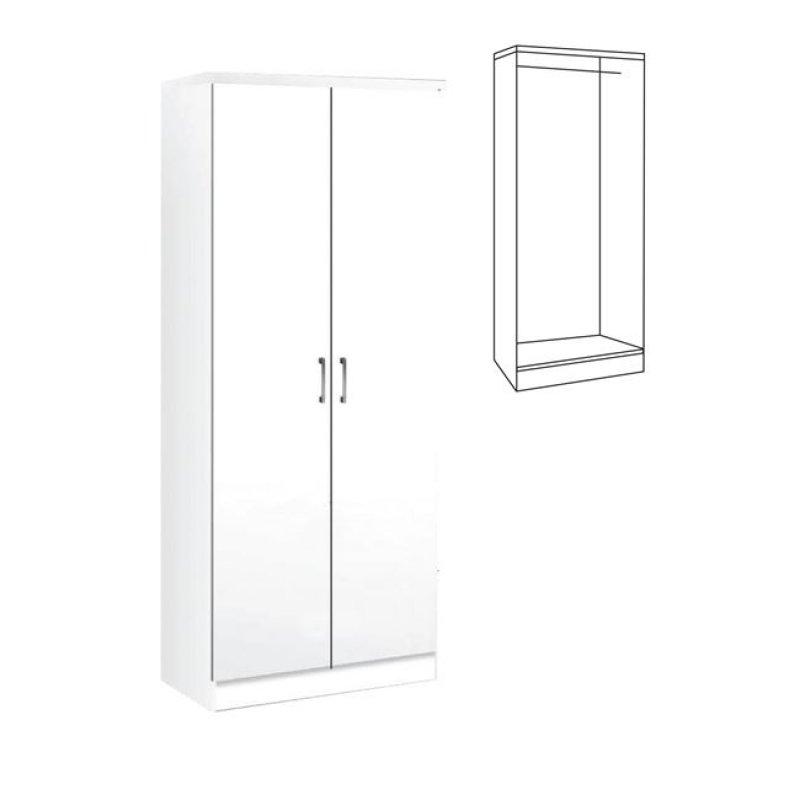 """Ντουλάπα """"LIFE"""" δίφυλλη σε λευκό χρώμα 80x42x180"""