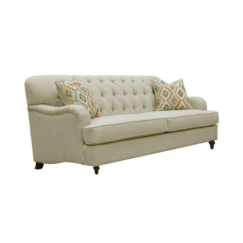 """Καναπές """"MEDINA"""" τριθέσιος από ύφασμα σε μπεζ χρώμα 215x94x93"""