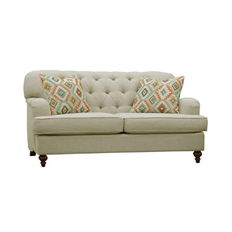 """Καναπές """"MEDINA"""" διθέσιος υφασμάτινος σε μπεζ χρώμα 155x94x93"""