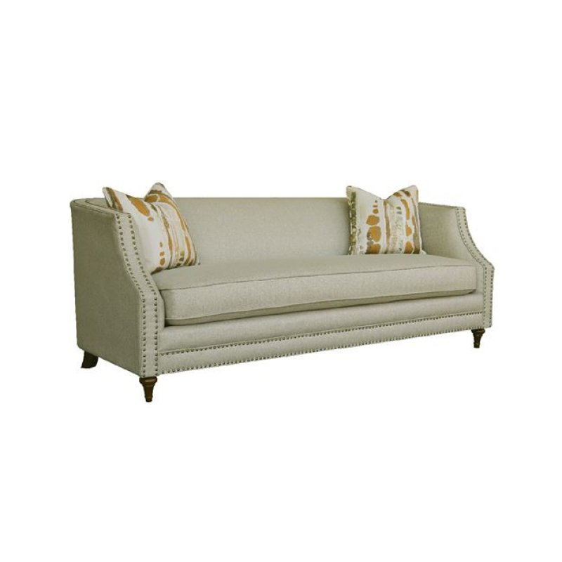 """Καναπές """"MARION"""" τριθέσιος υφασμάτινος σε μπεζ χρώμα 202x93x80"""