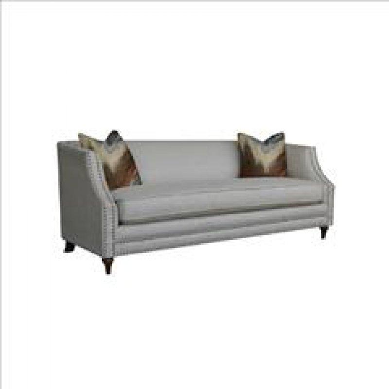 """Καναπές """"MARION"""" τριθέσιος υφασμάτινος σε γκρι χρώμα 202x93x80"""