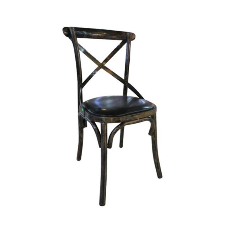 """Καρέκλα """"MARLIN"""" μεταλλική-pu σε χρώμα gold-black 45x42x90"""