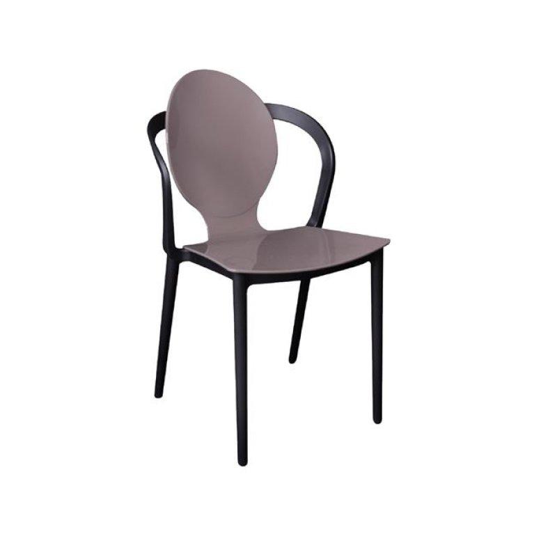 """Καρέκλα """"FOCUS"""" pp σε mocha-μαύρο χρώμα 51x48x89"""