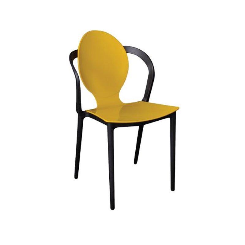 """Καρέκλα """"FOCUS"""" pp σε κίτρινο-μαύρο χρώμα 51x48x89"""