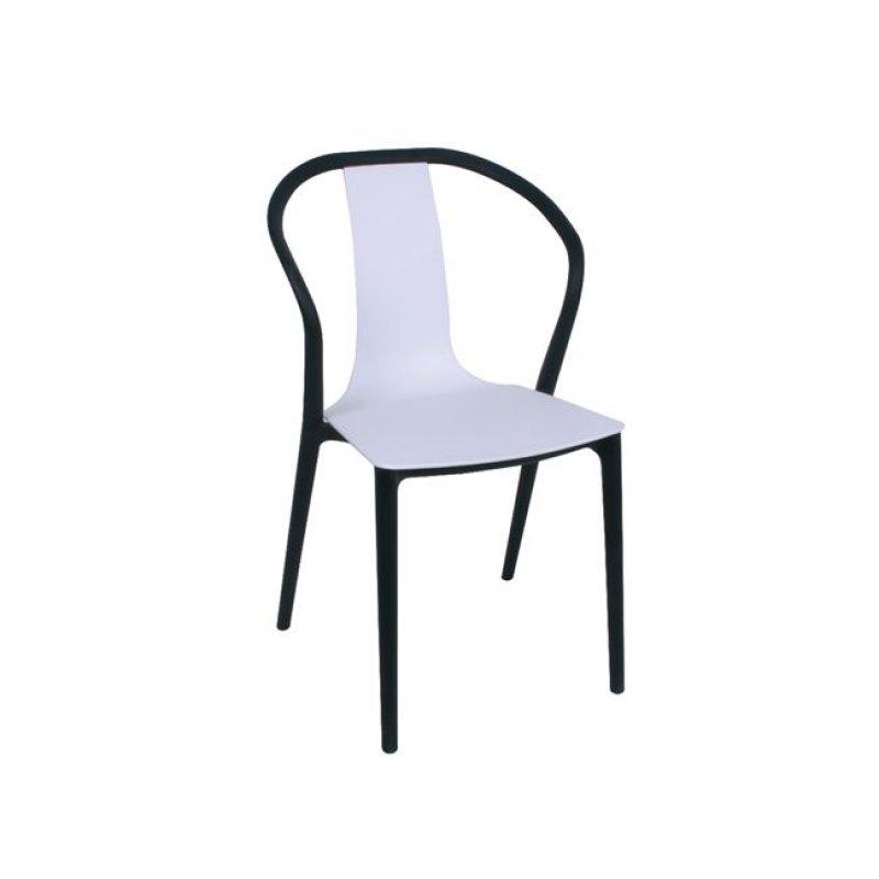 """Καρέκλα """"VISION """" pp σε χρώμα λευκό-μαύρο 57x53x89"""