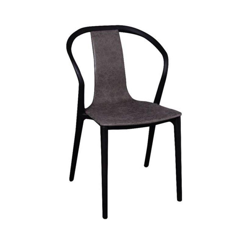 """Καρέκλα """"VISION """" pp-υφασμάτινη σε ανθρακί χρώμα 57x53x89"""