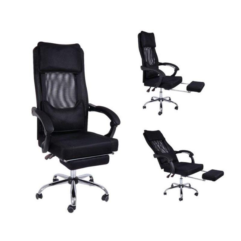 """Πολυθρόνα διευθυντή """"RELAX"""" από ύφασμα mesh σε μαύρο χρώμα 64x64x115/123"""