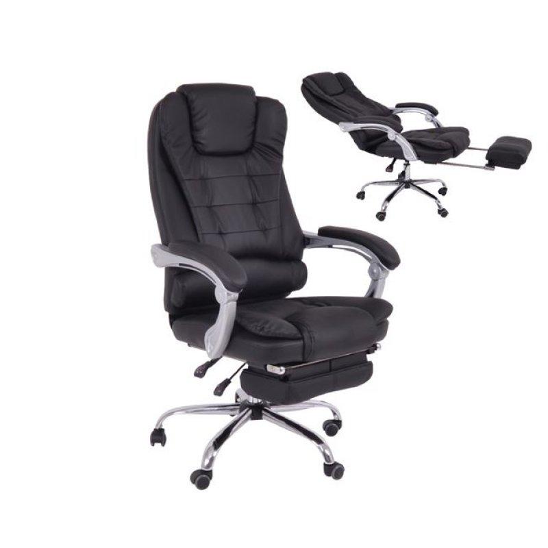 """Πολυθρόνα διευθυντή """"RELAX"""" από τεχνόδερμα σε μαύρο χρώμα 72x68x118/126"""