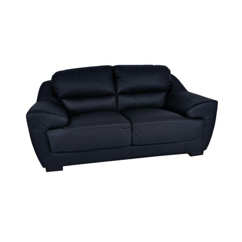 """Καναπές """"ELMA"""" διθέσιος δέρμα-pvc σε χρώμα μαύρο 173x97x89"""