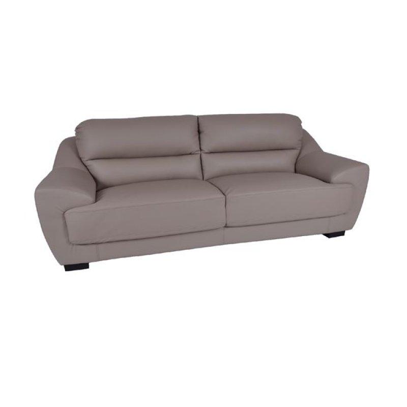 """Καναπές """"ELMA"""" τριθέσιος δέρμα-pvc σε χρώμα γκρι 223x97x89"""