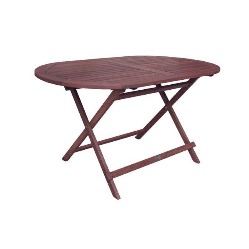 """Τραπέζι """"EASY"""" πτυσσόμενο οβάλ σε χρώμα καρυδί 120x70x72"""