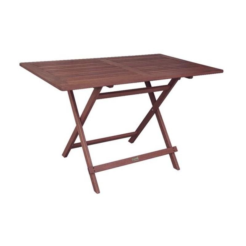 """Τραπέζι """"EASY"""" πτυσσόμενο σε χρώμα καρυδί σκούρο 120x70x72"""
