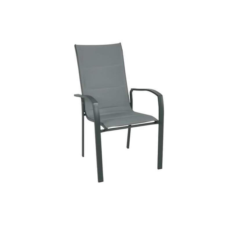 """Πολυθρόνα """"VERONA"""" μεταλλική ανθρακί από ύφασμα σε γκρί χρώμα 56x70x96"""
