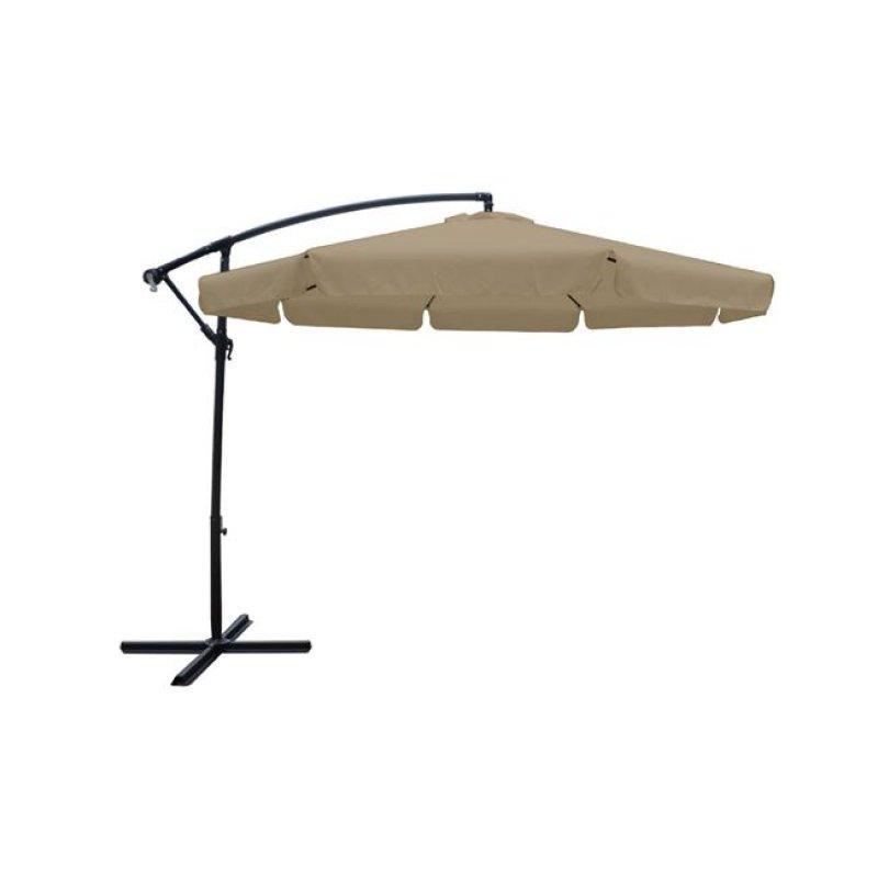 """Ομπρέλα """"HANGIG"""" αλουμινίου-υφασμάτινη σε μπεζ χρώμα Φ3"""