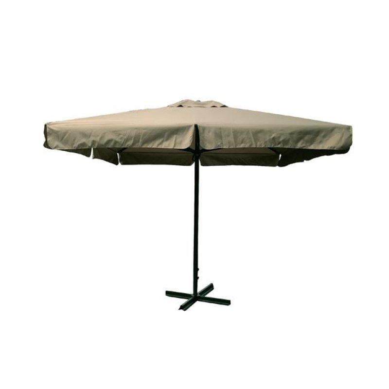 Ομπρέλα βαρέως τύπου αλουμινίου-υφασμάτινη σε μπεζ χρώμα 3x3