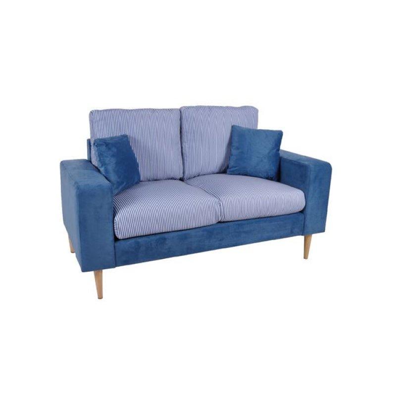 """Καναπές """"DOLCE"""" διθέσιος υφασμάτινος σε χρώμα μπλε 150x76x89"""
