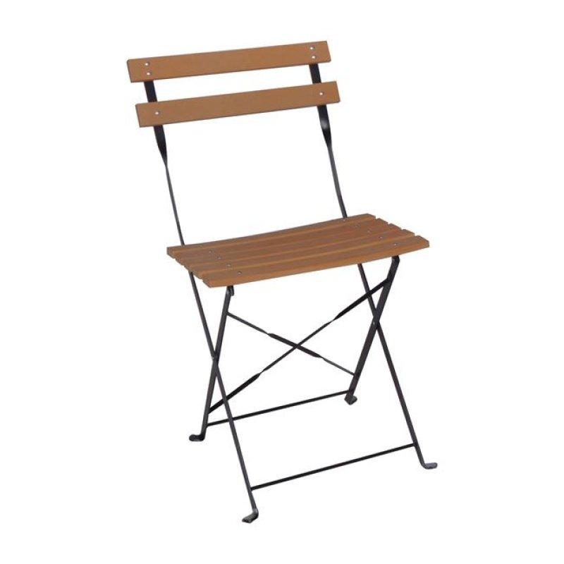 """Καρέκλα """"CAPO"""" μεταλλική πτυσσόμενη σε μαύρο χρώμα 42x46x82"""