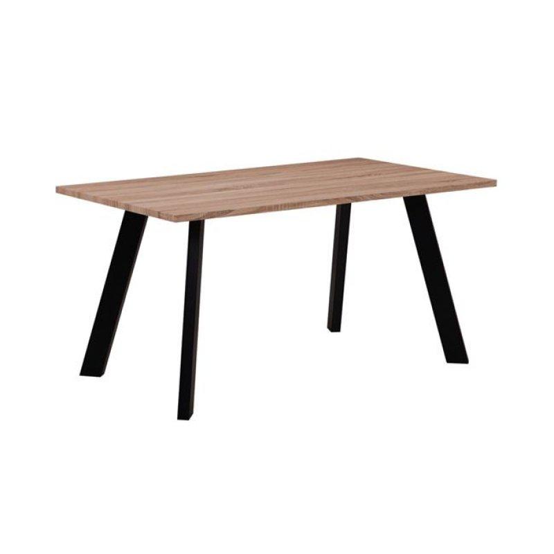 """Τραπέζι """"BAXTER"""" μεταλλικό και επιφάνεια σε σονόμα χρώμα 120x70x75"""