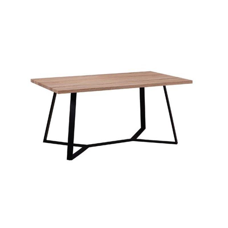 """Τραπέζι """"HANSON"""" μεταλλικό και επιφάνεια σε σονόμα χρώμα 160x90x75"""