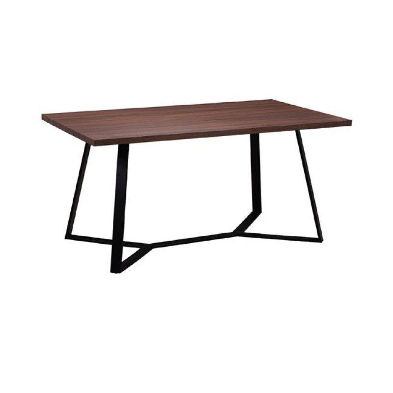 """Τραπέζι """"HANSON"""" μεταλλικό και επιφάνεια σε σκούρο καρυδί 160x90x75"""