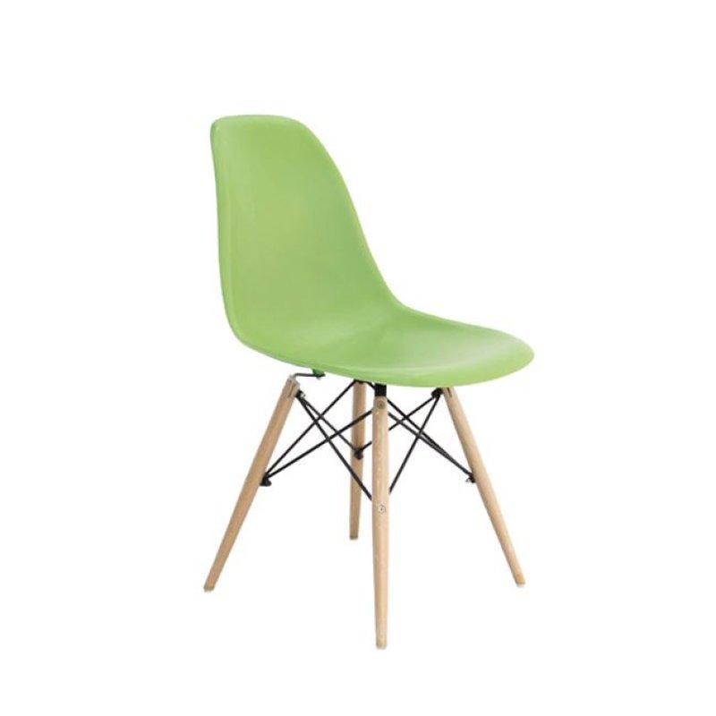 """Καρέκλα """"ART Wood"""" ξύλινη-πολυπροπυλενίου χρώματος πράσινο 46x53x81"""