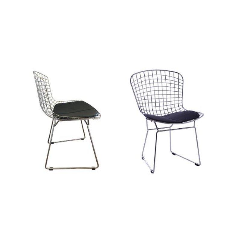 """Καρέκλα """"SAXON"""" μεταλλική με πλέγμα σε χρώμα χρωμίου 54x56x83"""