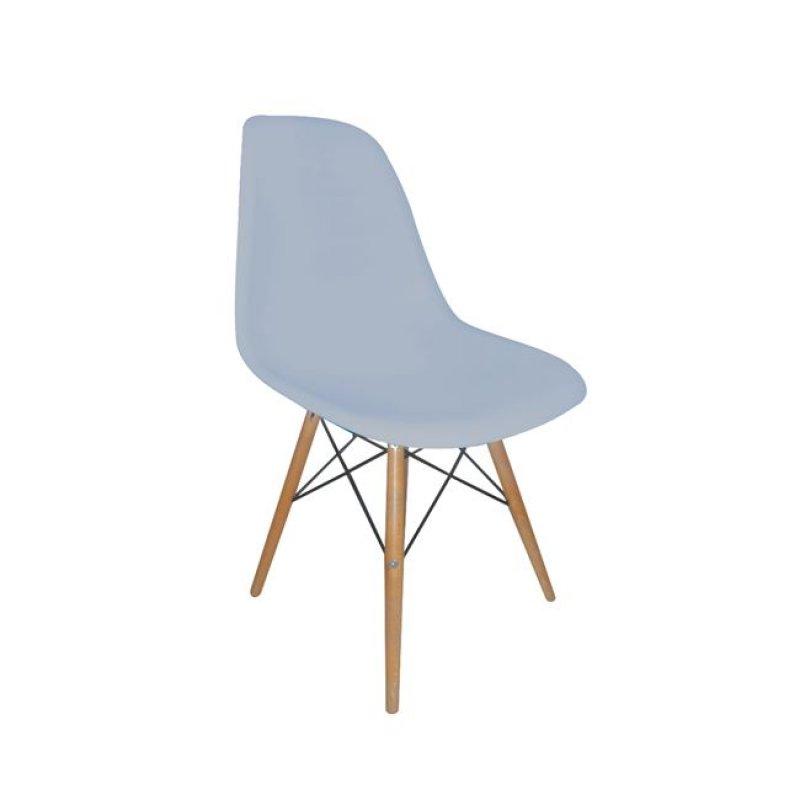 """Καρέκλα """"ART Wood"""" ξύλινη-pp χρώματος γκρι 46x53x81"""