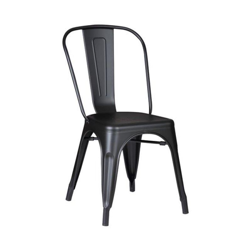 """Καρέκλα """"RELIX"""" μεταλλική σε χρώμα μαύρο 45x51x85"""