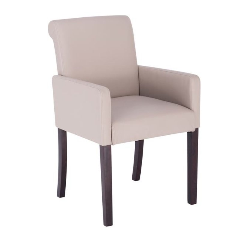 """Πολυθρόνα """"MONDERO"""" από pu σε χρώμα cappuccino 55x61x86"""