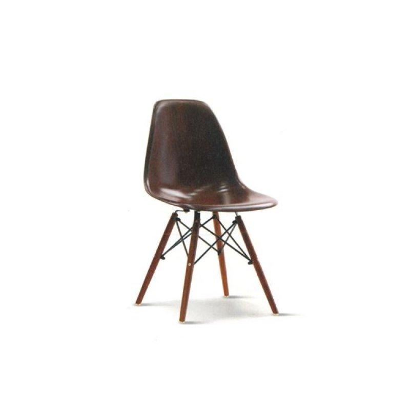"""Καρέκλα """"ART Wood"""" ξύλινη-abs χρώματος καρυδί 46x53x82"""
