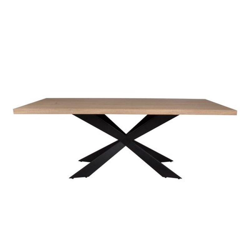 """Τραπέζι """"TORSEN"""" μεταλλικό με επιφάνεια σε χρώμα sonoma 180x90x75"""