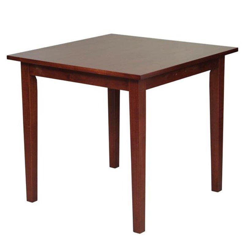"""Τραπέζι """"NATURALE"""" σε καρυδί χρώμα 80x80x74"""