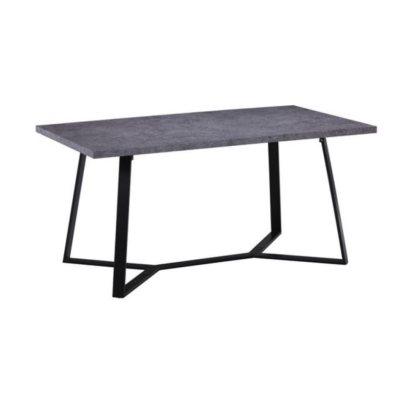 """Τραπέζι """"HANSON"""" μεταλλικό και επιφάνεια σε γκρι cement 160x90x75"""