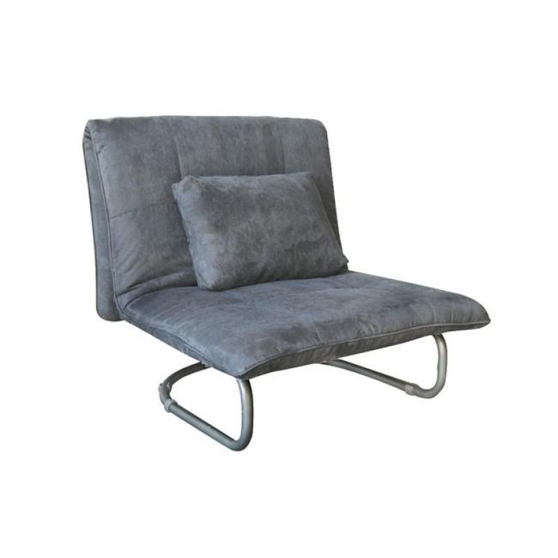"""Πολυθρόνα-κρεβάτι """"LUCY"""" από ύφασμα σε γκρι χρώμα 94x90x90"""