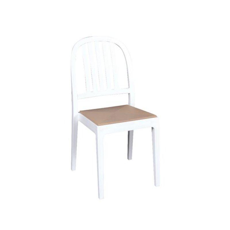 """Καρέκλα """"ERA"""" από πολυπροπυλένιο σε λευκό χρώμα 44x53x89"""