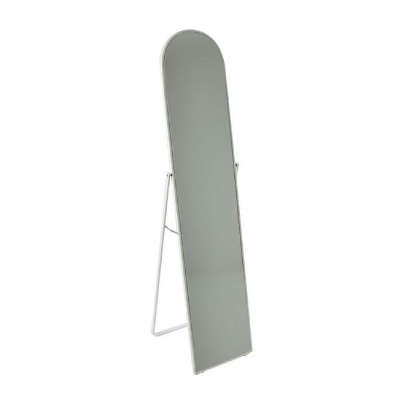 """Καθρέπτης δαπέδου """"HARVEY"""" μεταλλικός σε χρώμα λευκό 40x43x160"""